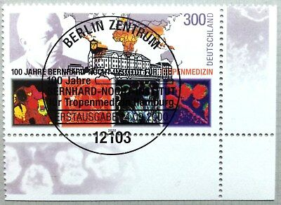 Germany 2000 : tropical medicine. Corner stamp with special cancel