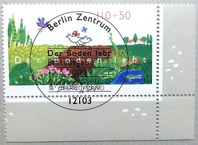 Germany 2000 : Nature protection. Corner stamp with special cancel