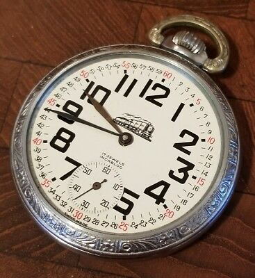 Vintage Arnex Railroad Engraved Pocket Watch