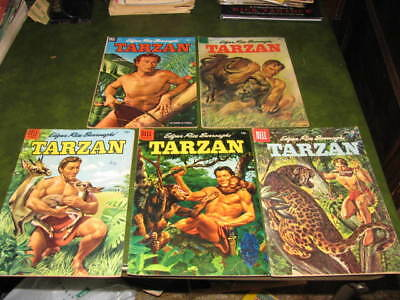 Tarzan 39, 61, 67, 68, 114  Dell Comic Books 1952-59 VG/Fine