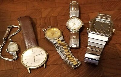 Lot of (5) Misc Vintage Wrist Watches - Parts/Repair