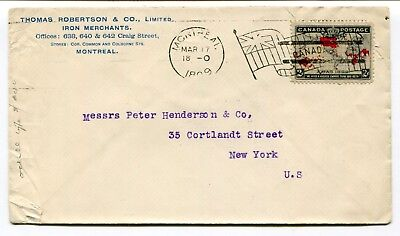 Canada QC Montreal 1899 Flag Cancel - Map Stamp Cover - Iron Merchant CC to USA