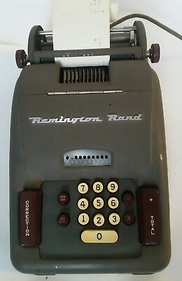 Vintage 1950s Remington Rand Electric Adding Machine Model 93 Made in USA 10 Key