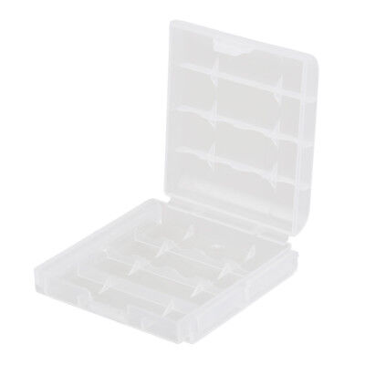 5x Clear Plastic Battery Box Storage Case Cover Holder For AA AAA Batteries O4F6