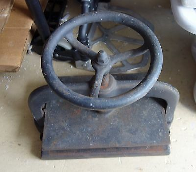 Antique Victorian Cast Iron Book Binding Press Vintage Industrial Copying Plate