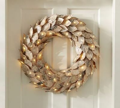 pottery barn 22 lit birch wreath new in original box sold out - Lit Original