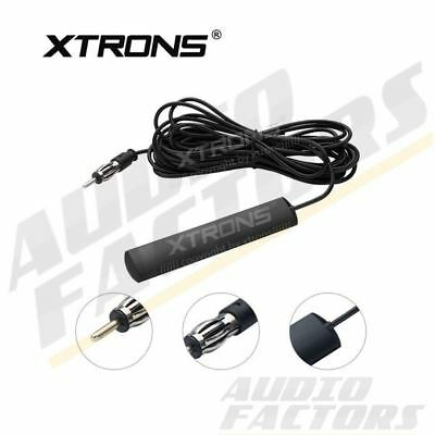 Universal Windscreen Glass Mount Car Stereo FM Radio DIN Aerial Antenna 5 Meters