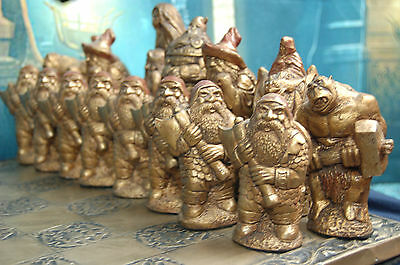 HUGE Fantasy Chess Set. Customisable Colours (Pieces Only) Wizard,Dragon,Orc