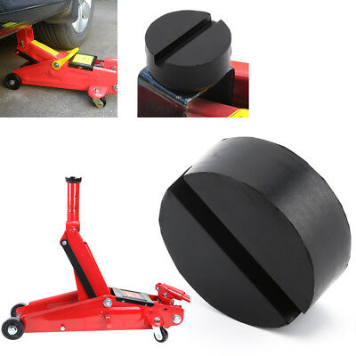 1x Black DIY Car SUV Slotted Frame Rail Hydraulic Floor Jack Disk Rubber Pad BV