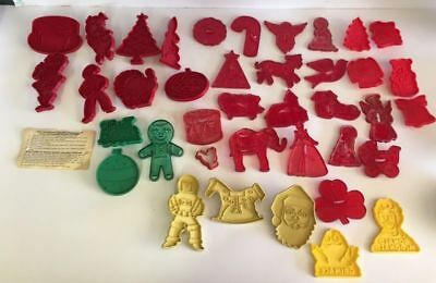 Vintage Lot of 40 Plastic Cookie Cutters Stanley Tupperware McDonalds  4-5""