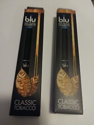 BRAND NEW Blu Classic Tabacco Disposable 24mg Nicotine-2ct-FREE SHIPPING!!