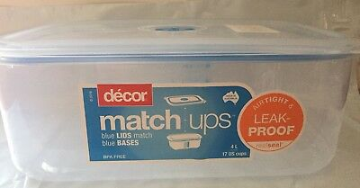 Decor Match Ups Blue Lids Bases 4l Containers Airtight Leak Proof