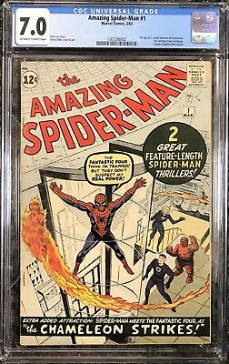 The Amazing Spider-Man #1 ~ CGC 7.0 OW/WHITE Pages!!!