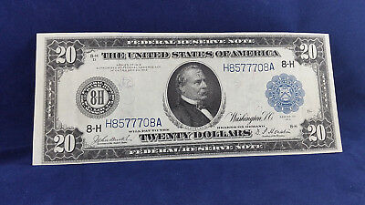 "1914 Series $20 Federal Reserve "" St. Louis "" Burke / Houston <<<"