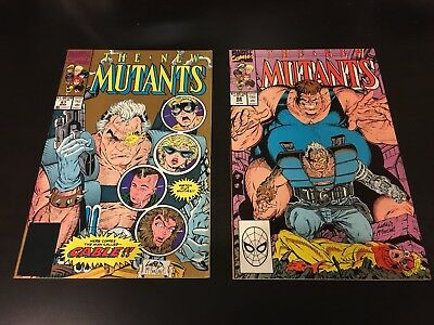 New Mutants #87 (2nd Print Gold Variant) and #88. 1st Cable. Marvel Comics