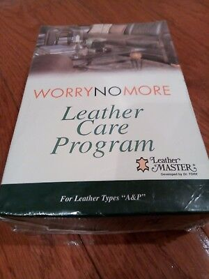 WORRY NO MORE LEATHER CARE PROGRAM For Leather Types A & P / Brand New & Sealed