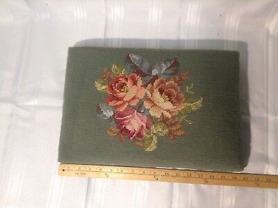 Vintage Needlepoint Cushion for Footstool
