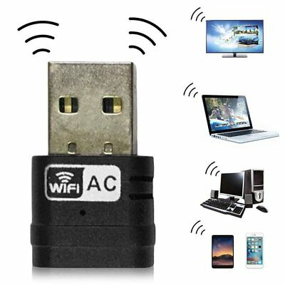 New Wireless Dual Band 2.4G 5G 5GHz 802.11AC USB Wifi Dongle Network Adapter BE