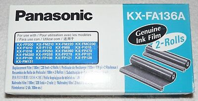 Panasonic KX-FA136A Genuine Ink Film in Sealed Box (2 rolls in the box)