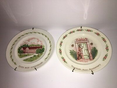 Lot Of 2 Vintage AVON 10th And 20th Anniversary Plates