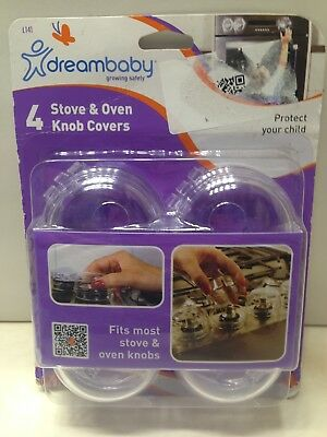 DreamBaby Stove Oven Knob Covers 4 PK - Child Proof Safety Appliance Cover L141