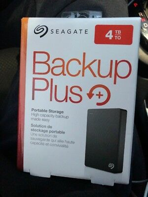 Seagate Backup Plus 4tb External Hard Drive Blk (sealed brand new)