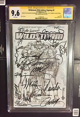 25x SIGNED 9.6 CGC Wildstorm 25th Anniversary Edition jim lee j scott campbell 1
