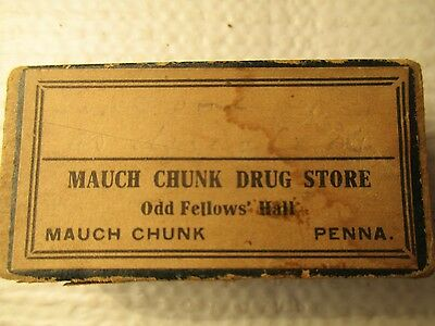 Antique Odd Fellow's Hall Mauch Chunk PA Drug Store Sm. Cardboard Pin Box