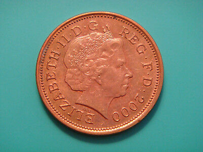 Great Britain 2 Pence, 2000, Welsh plumes and crown