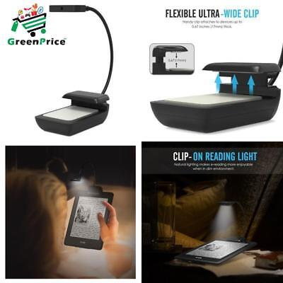 Flexible Clip On Desk Lamp Clamp 8 LED Light Small for Kids Adults Modern Black