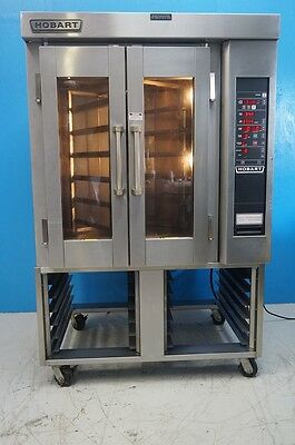 Hobart Electric Mini Rotating Rack Steam Injected Convection Oven On Stand