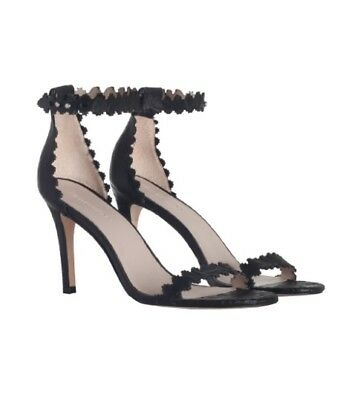 Zimmermann Filigree Lace Sandal Heels | Black Shoes Leather Ankle Strap |$650 RP