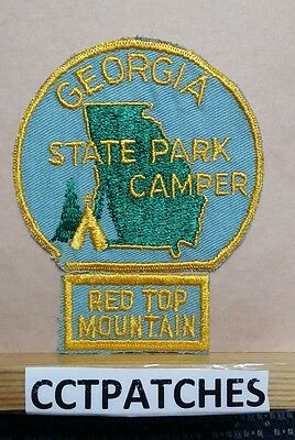 Vintage Georgia State Park Camper Red Top Mountain Patch