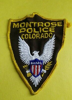 Montrose, Colorado Police Shoulder Patch Co