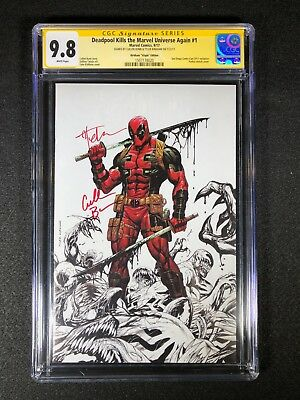 Deadpool Kills the Marvel Universe Again #1 CGC 9.8 SS 2X - Kirkham Virgin