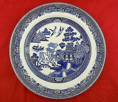 """Willow Blue 12"""" Chop Plate / Round Platter Johnson Brothers Made in England"""