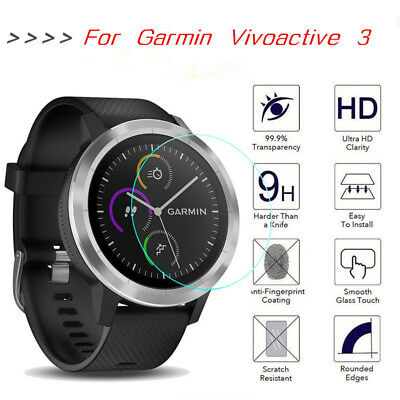 9H Wristwatch Tempered Glass Screen Protector Film For Garmin Vivoactive 3 Lot