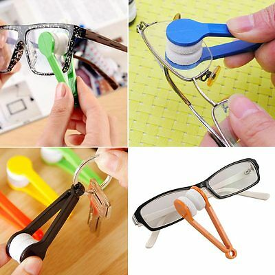 5x Lens Microfiber Optic Cleaner Glasses Clean Cloth Spectacles Eyeglasses Use D