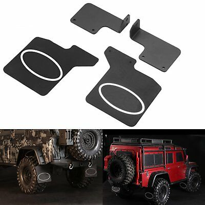 2X TRX4 Rear Real Rubber Fender Mud Flaps Logo Für 1/10 RC Crawler Traxxas TRX-4