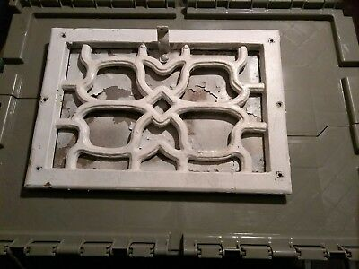Antique Vintage Cast Iron  Heat Grate Register Vent Cover Ornate!