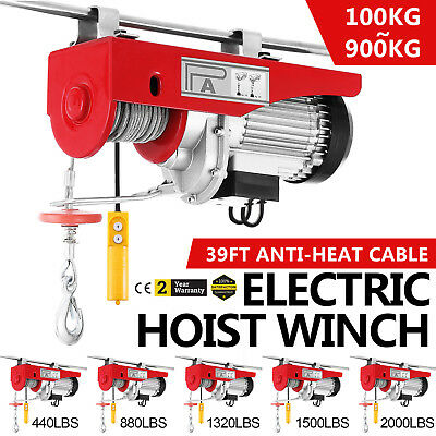 100kg~900kg Electric Hoist Winch Lifting Engine Crane Ceiling Garage Automotive