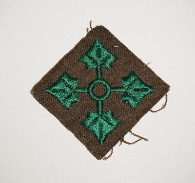 4th Infantry Division Wool Patch WWII US Army P5928