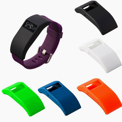 Silicone Tracker Case Cover Protector Sleeve With Dust Plug For Fitbit Charge HR