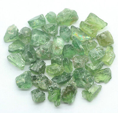 Natural Unheated GREEN APATITE Specimen Rough Lot 51.35cts