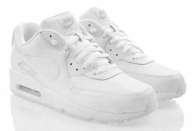 NIKE AIR MAX 90 LEATHER Sneaker Weiss Herrenschuhe Leder SALE 302519113