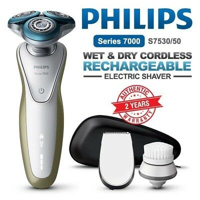 PHILIPS Series 7000 Wet and Dry Electric Shaver Cordless Beard Trimmer S7530/50