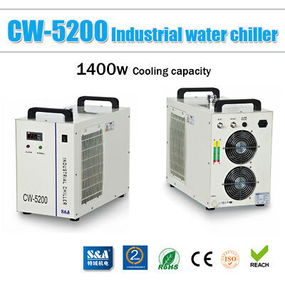 110V S&A CW-5200DG Industrial Water Chiller for 130W/150W CO2 Laser Tube Cooling