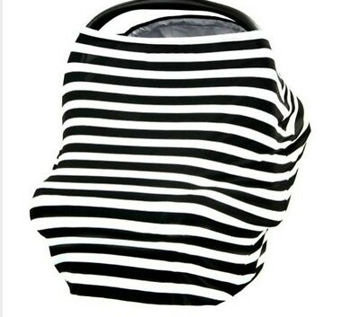 Baby Car Seat Cover & Multi-Use Covers for Nursing, Breastfeeding, Stretchy Cano