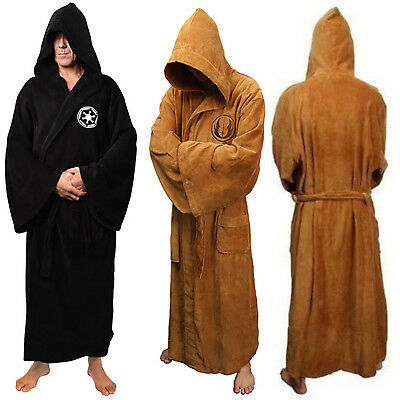 AU Star Wars Jedi Sith Cloak Fleece Bathrobe Hooded Robe Dressing Gown Costume