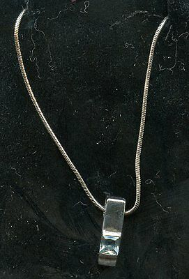 Sterling Silver Blue Cubic zirconia  Pendant with Silver Chain
